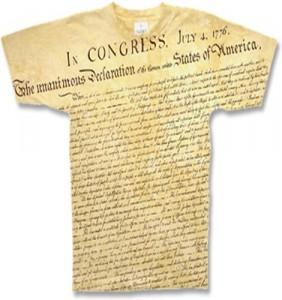 Declaration of Indepedence t-shirt