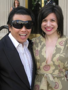 With Zang on the steps of the Metropolitan Museum of Art.