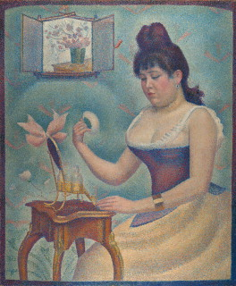 """Young Woman Powdering Herself"" by Seurat"