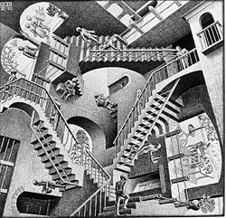 "M.C. Escher's ""Relativity."""
