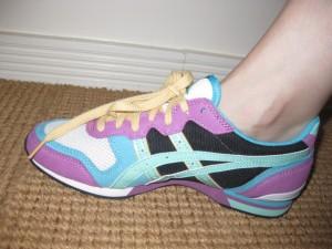 Much more stylish than my white New Balance pair.