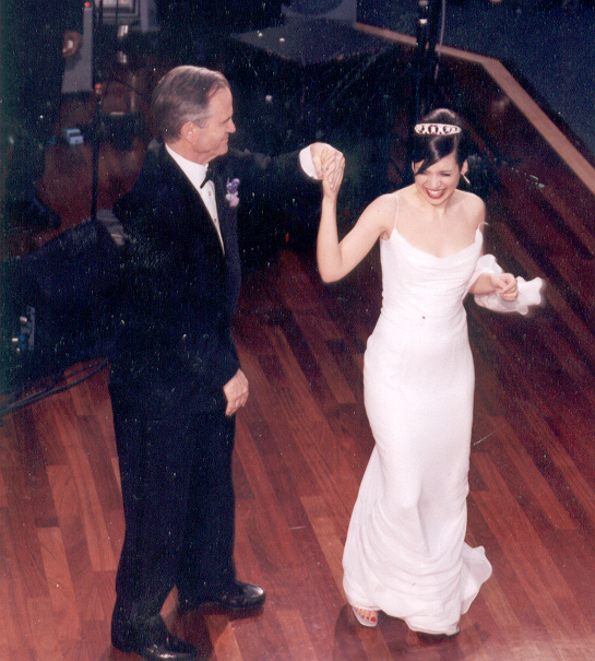 Dancing in my Tyler gown and tiara.