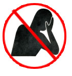 Sister Wolf's anti-hand-to-face posing symbol