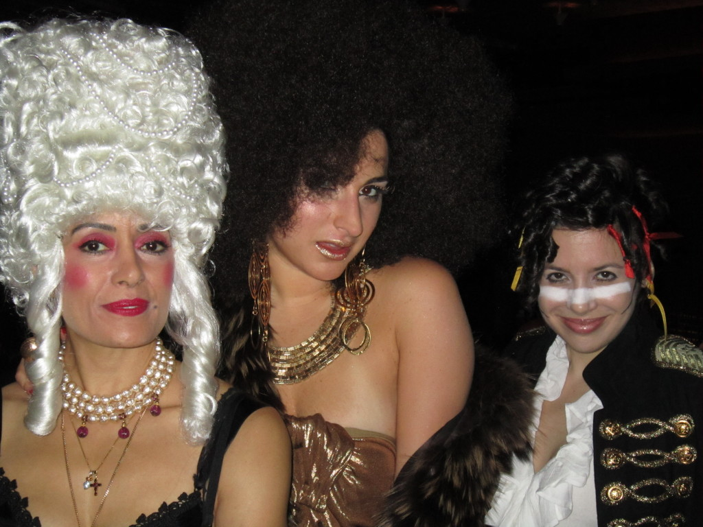 From left Julie as Marie Antoinette random stranger as Pam Grier WendyB as Adam Ant.  sc 1 st  Wendy Brandes Jewelry & What Wendy Wore: Happy Halloween From Adam Ant | Wendy Brandes ...