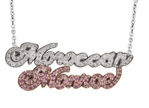 Mariah Carey's Push Present: Twin Nameplate Necklace