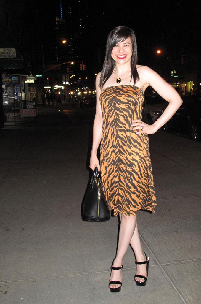 20420d118f20 What Wendy Wore: Dress: Vintage Clovis Ruffin Shoes: Prada (2011) Bag:  Louis Vuitton (2001) Necklace: My own Queen of Scots design. Skin: Untanned