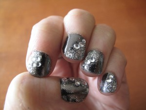 """Silver to the Third Power"" Manicure by Tracylee Percival"