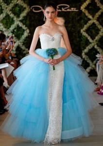 Blue-Ribbon Bridal Gown