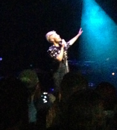 My one crappy Instagram picture of Emeli performing.