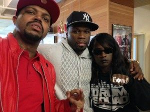 Rapper 50 Cent and Wendy Brandes Swear Rings