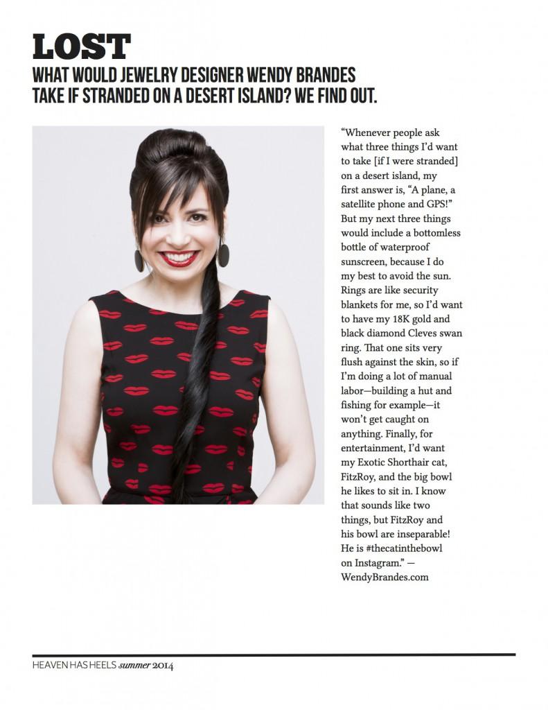 HHHeels Summer 2014 Issue.Wendy Brandes