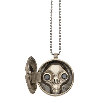 ... a skull with black-diamond eyes! (Click to see the great sale price.)