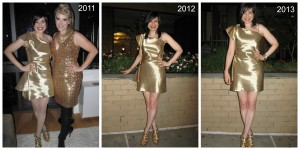 Throwback Thursday: One Gold Dress Over Three Years