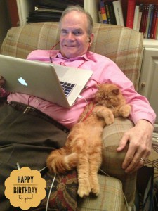 A Man and His Cat … and His Birthday