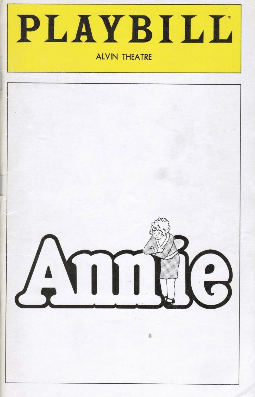 Annie Playbill