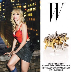 Wendy Brandes Jewelry on ScarJo in W Magazine
