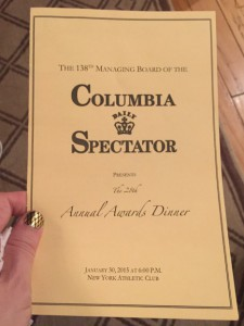 What Wendy Wore: Ben and Beau at Columbia Spectator Dinner