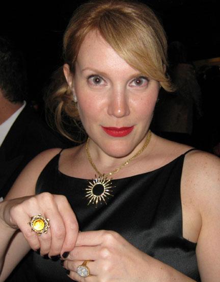 My friend Tina wearing the Gloriana in 2009.