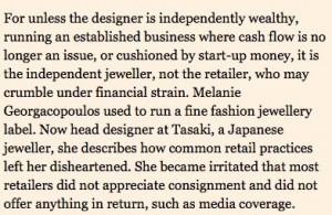 The Financial Times on Consignment Practices