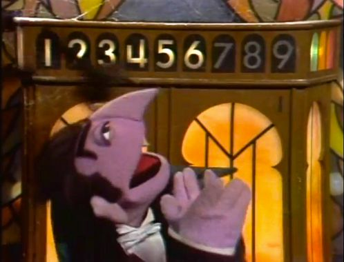 Count von Count loves to count.