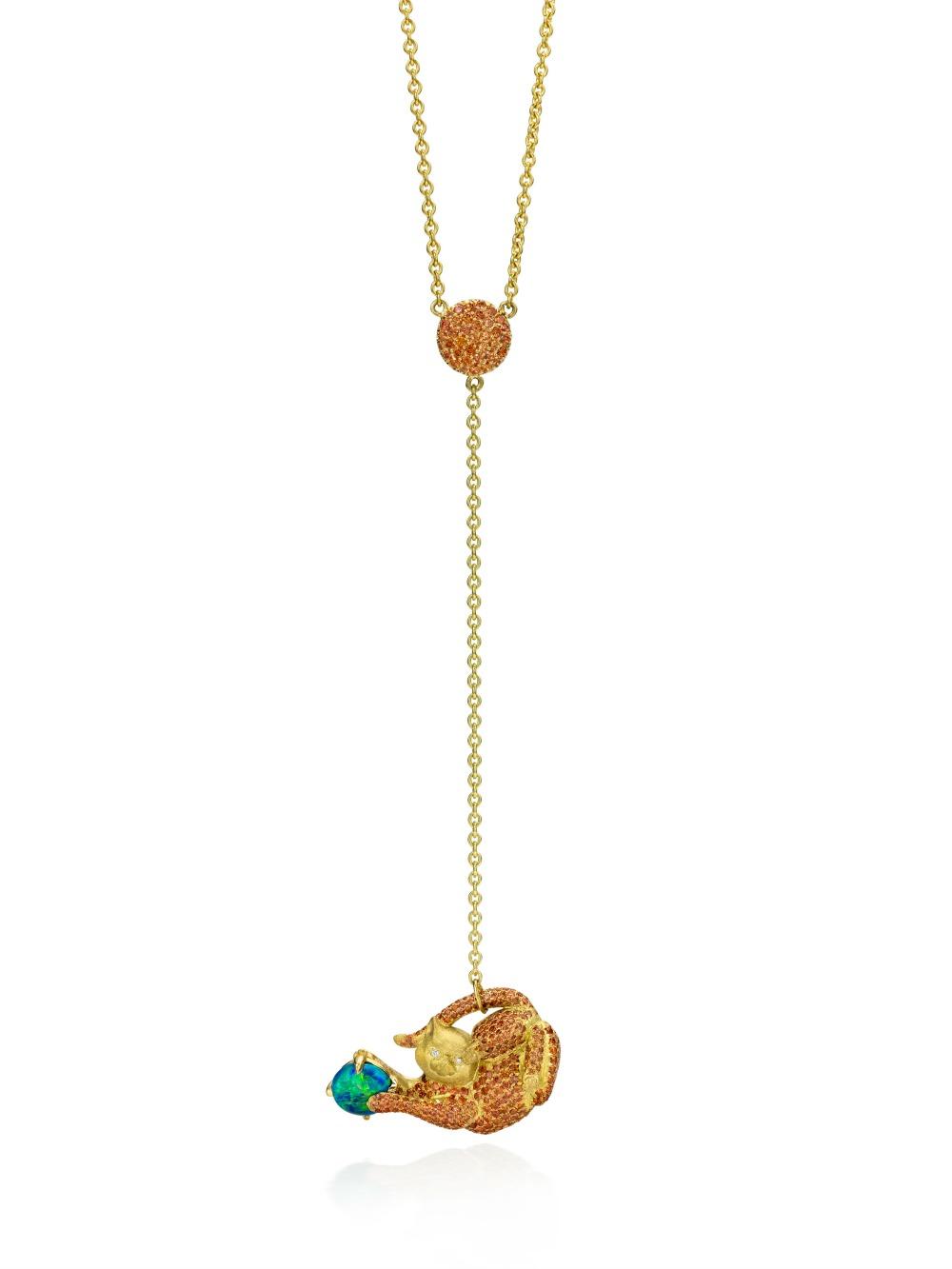 cat necklace y necklace