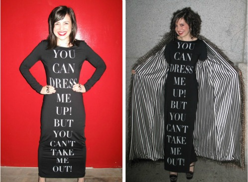 The same dress in 2010 and 2013.