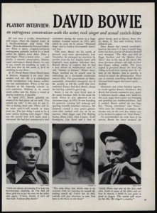 David Bowie's 1976 Playboy Interview and Other Links