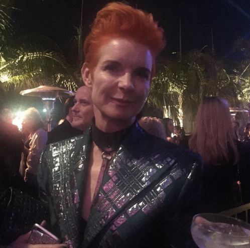My own photo of Sandy at the Vanity Fair party. Click to see on my Instagram.