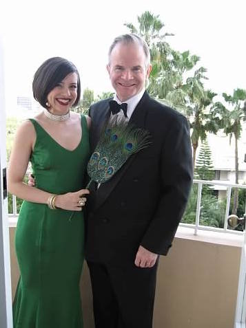 Wearing the Zang Toi with MrB before the Oscars in 2006.