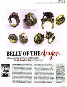 Wendy Brandes Jewelry in InDesign and Vegas
