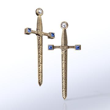 Matilda sword earrings.