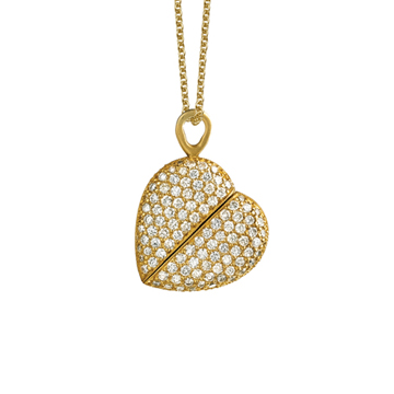 We all do our own versions of heart jewelry. This one twists into an oval shape. Click to purchase.