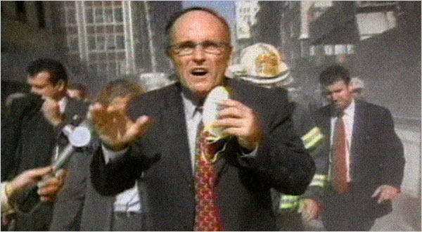Giuliani on Sept. 11, 2001. Screen cap from HBO documentary.