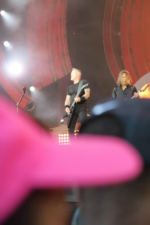 Is that Metallica playing behind that hat? Not sure.