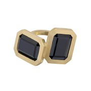 Clemence Ring - Black Spinel