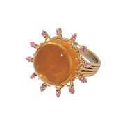 Citrine & Pink Sapphire Ring