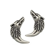 Isabella Wolf-Fang Earrings - Silver