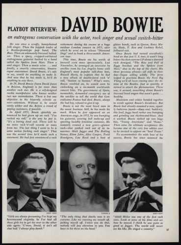 David Bowie's 1976 Playboy Interview and Other Links | Wendy Brandes  Jewelry Blog