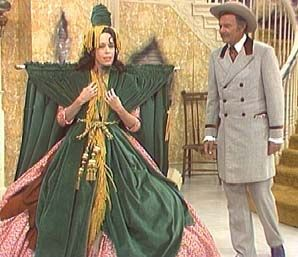 "Carol Burnett wearing the draperies in her ""Went With the Wind"" sketch."